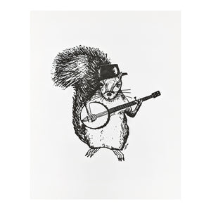 Squirrel Playing Banjo