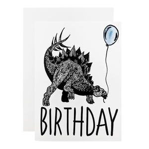 Birthday Stegosaurus Card