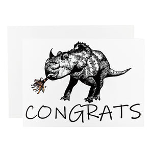 Congrats Triceratops Card