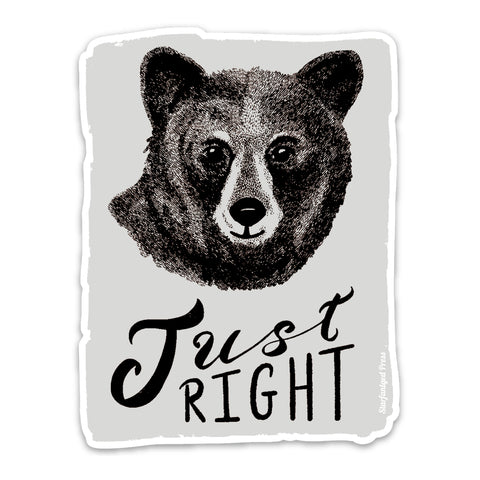 Baby Bear Just Right Sticker
