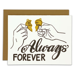 Best Friends Forever Necklace Card