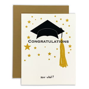 Congratulations, Now What? Graduation Card