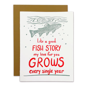 Fish Story Love Story Card