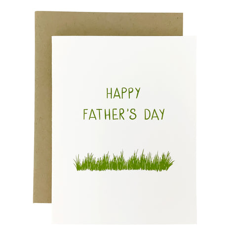 Happy Father's Day Grass Card