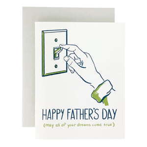 Happy Father's Day Light Switch Card