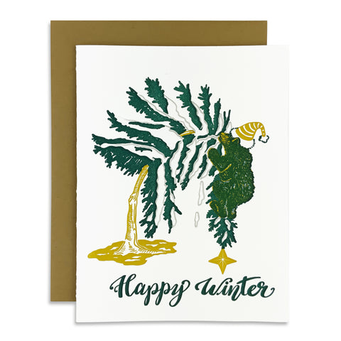 Happy Winter Bear Card