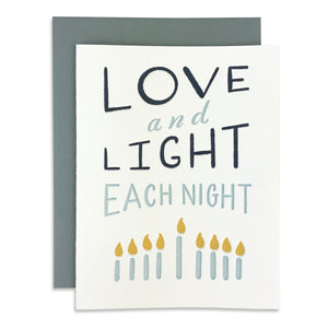 Love and Light Each Night Hanukkah Card