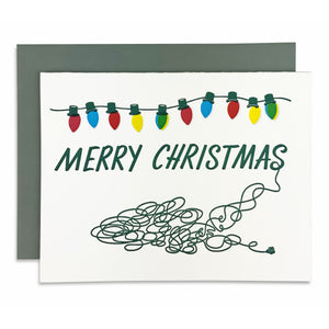 Merry Christmas Lights Mess Card
