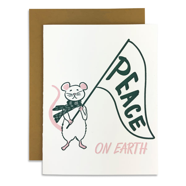 Peace On Earth Protest Mouse Card
