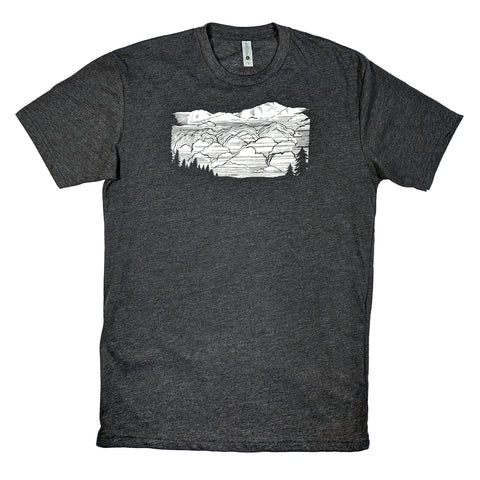 CLOUDY VALLEY Crew Neck T-Shirt