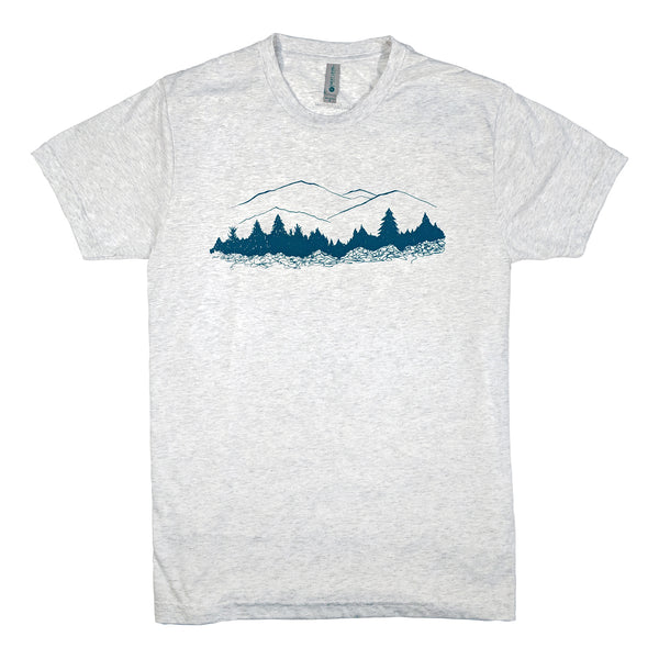 MOUNTAIN TREELINE Crew Neck T-Shirt