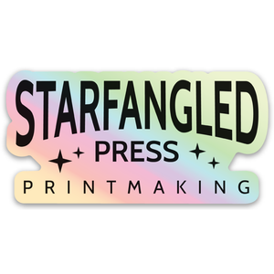Starfangled Press Holographic Logo Sticker