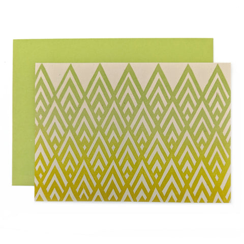 Green Gold Mountain Card
