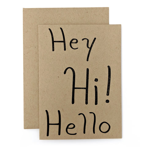 Hey Hi! Hello Card
