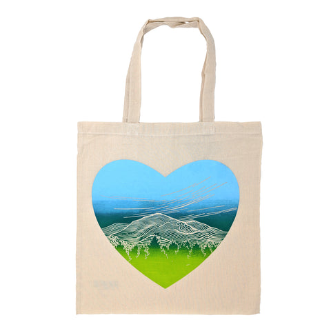Mountain Heart Tote Bag