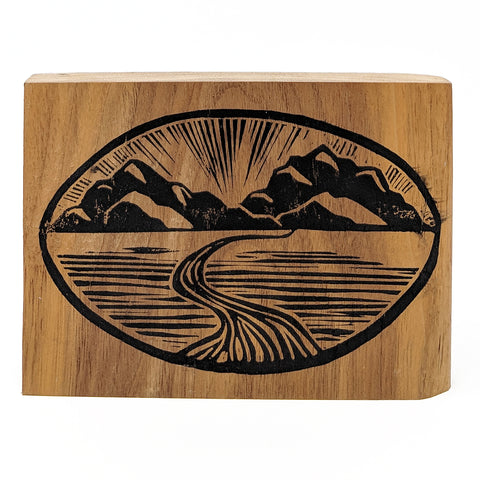 Mountain View on Wood