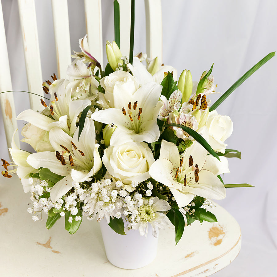 Alabaster Mixed Lily Arrangement