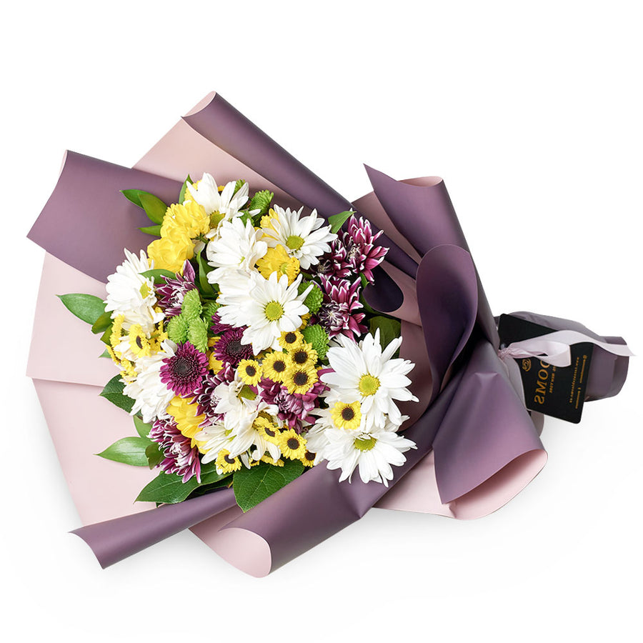Multi-coloured mixed daisy bouquet. Same Day Toronto Delivery.