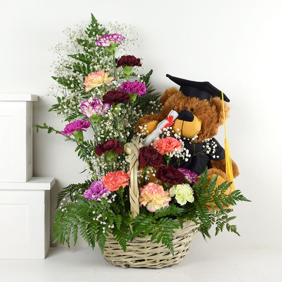 Bear In Mind Plush & Flower Gift