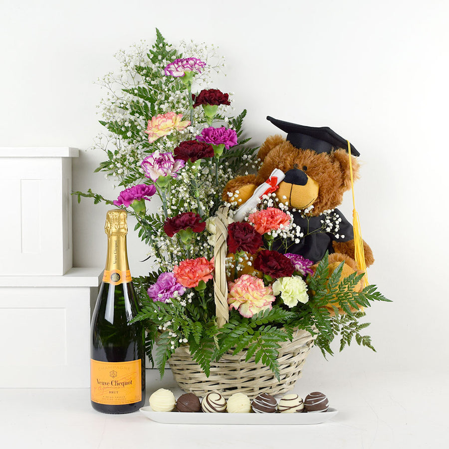 Bearly Truffles Champagne & Flower Gift
