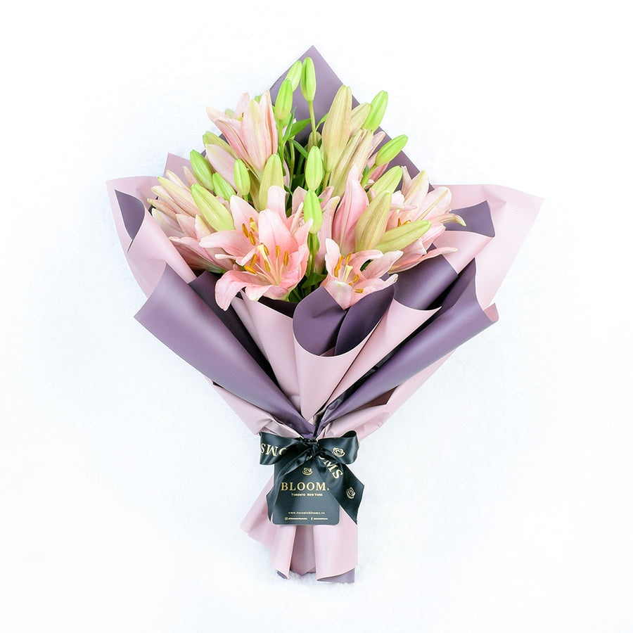 Toronto Same Day Flower Delivery - Toronto Flower Gifts - berry crush lily bouquet