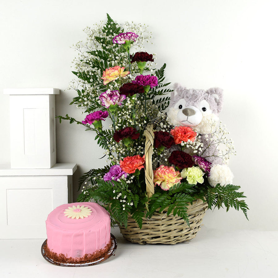 Birthday Bash Cake & Flower Gift