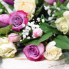 Mixied White and Purple Rose Bouquet - Toronto Same Day Flower Delivery - Toronto Flower Gifts