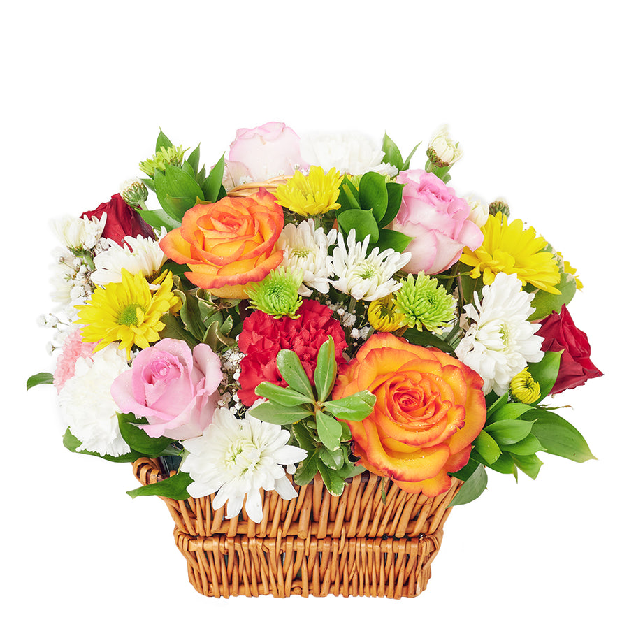 Bountiful Mixed Rose Arrangement