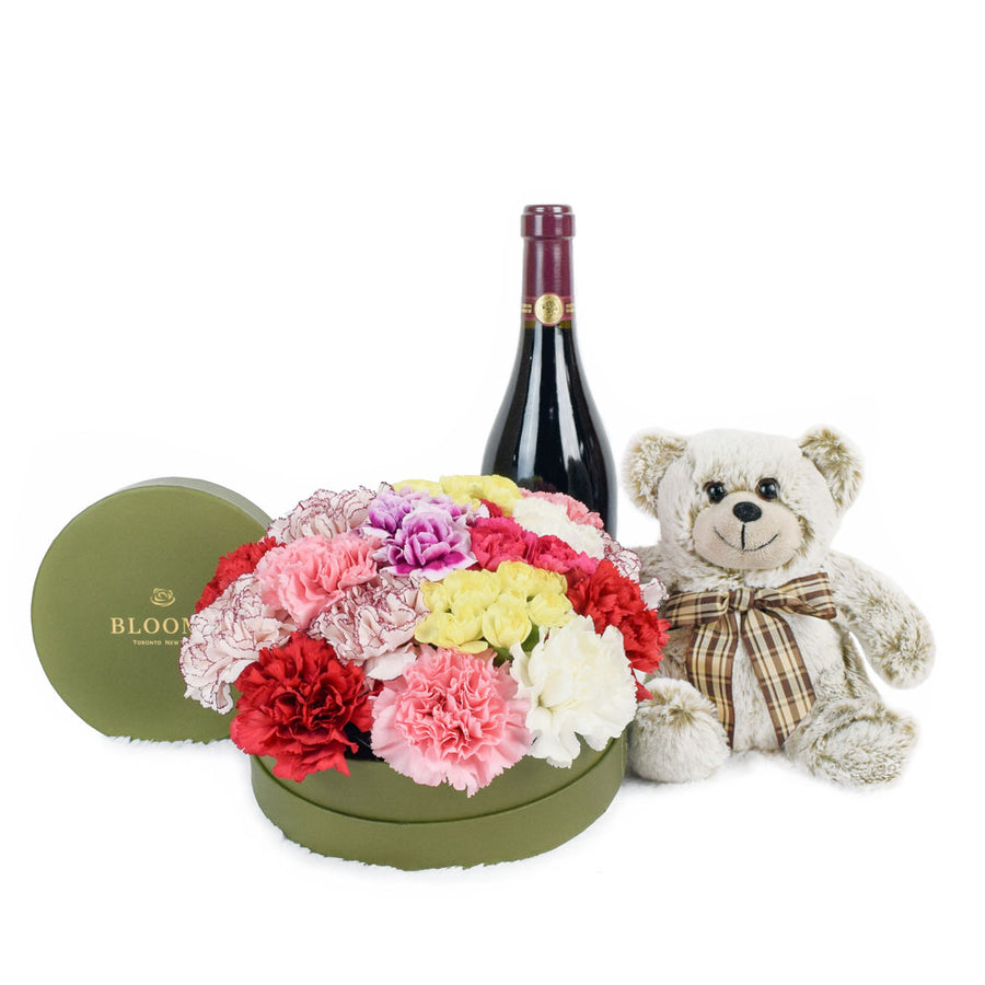 Celebration of Love Flowers & Wine Gift