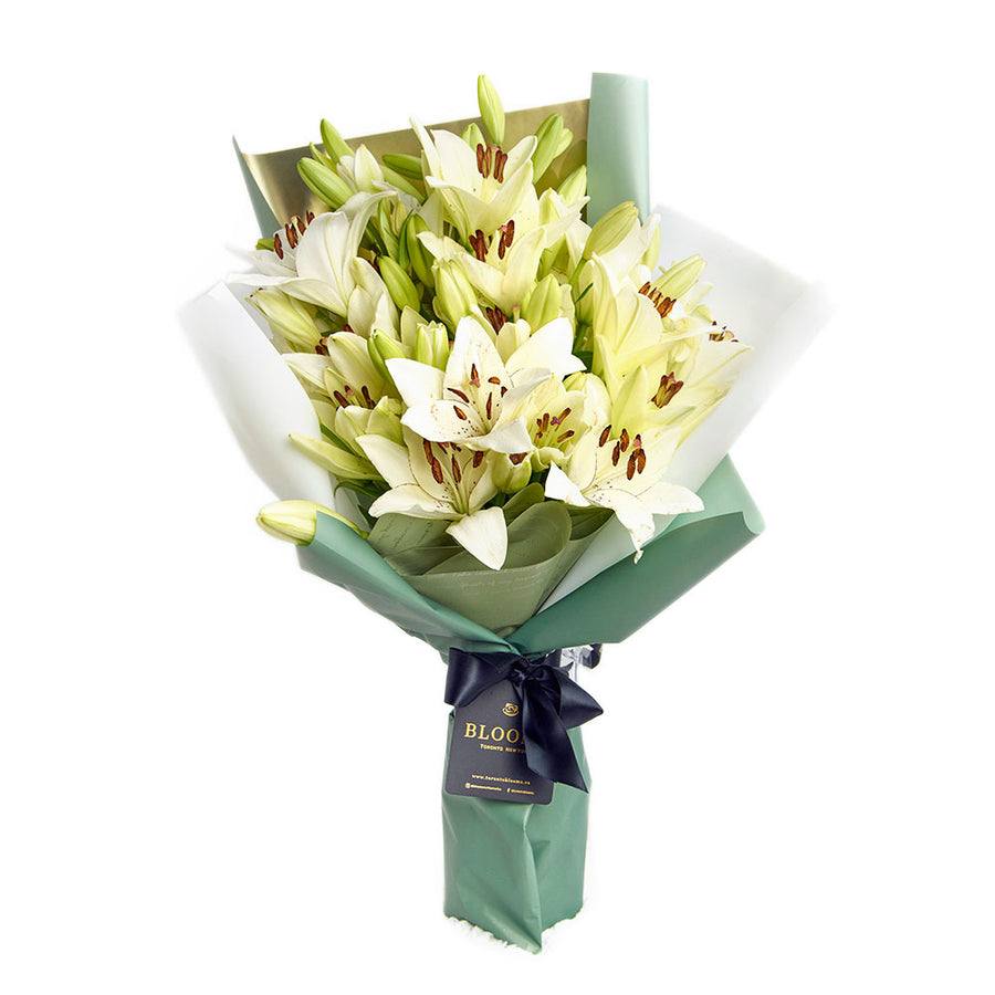 Crisp Snow Lily Bouquet