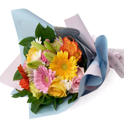 Multi-coloured mixed floral bouquet. Same Day Toronto Delivery.