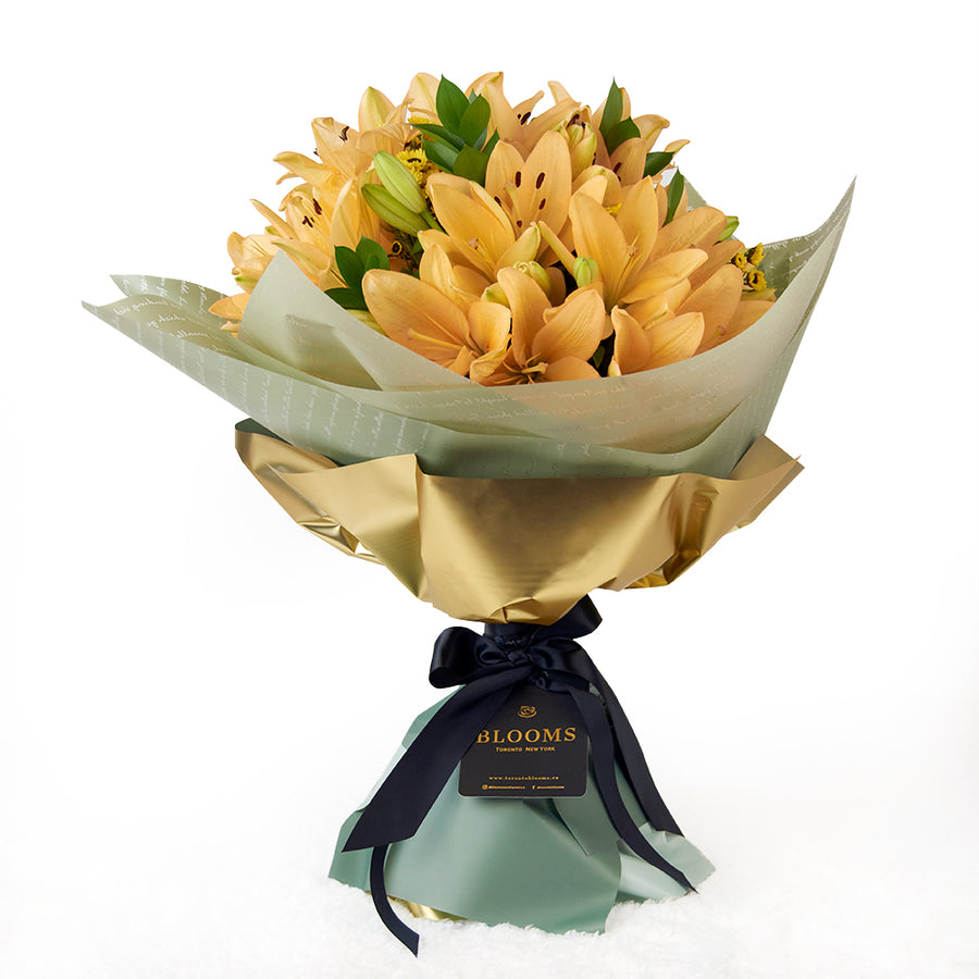 Toronto Same Day Flower Delivery - Toronto Flower Gifts - Amber Celebration Lily Bouquet