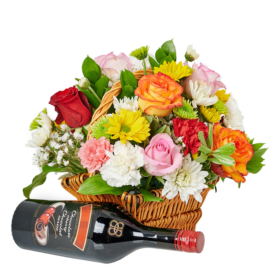 Spirits & Bountiful Mixed Rose Gift Set – Liquor Gifts – Same Day Toronto delivery