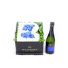 Welcome Baby Boy Flower Box with Champagne