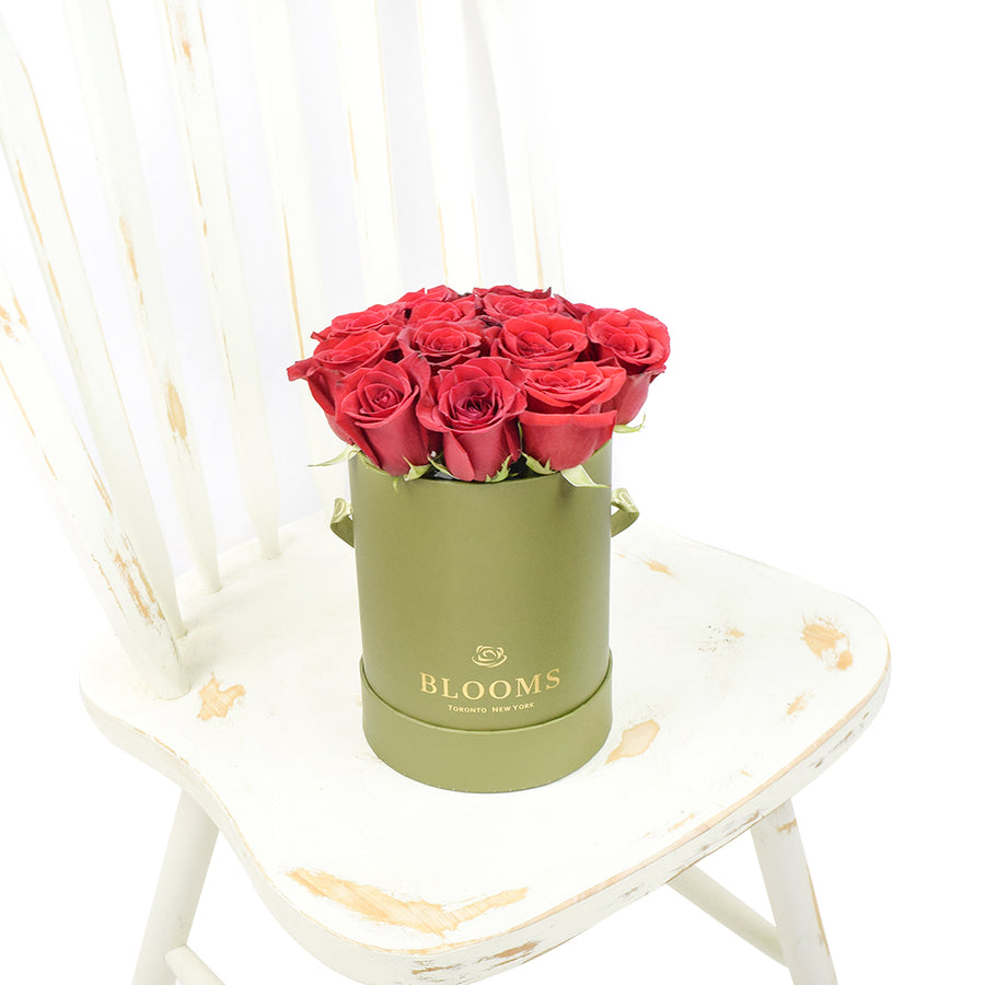 Red Rose & Spring Green Gift Box