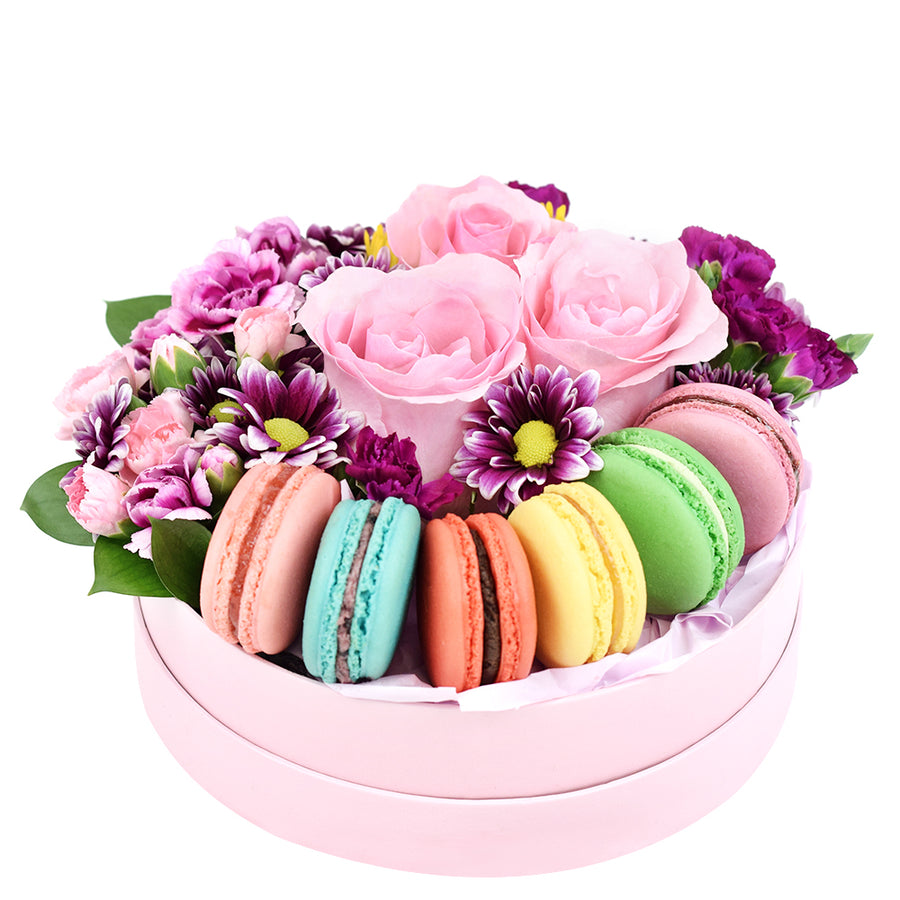 Flower and macaron box set - Same Day Toronto Delivery
