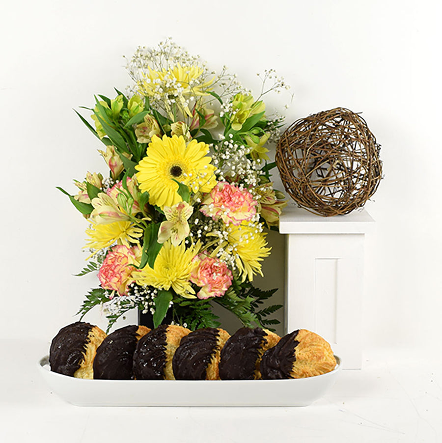 Blossoming Sunrise Arrangement & Treats
