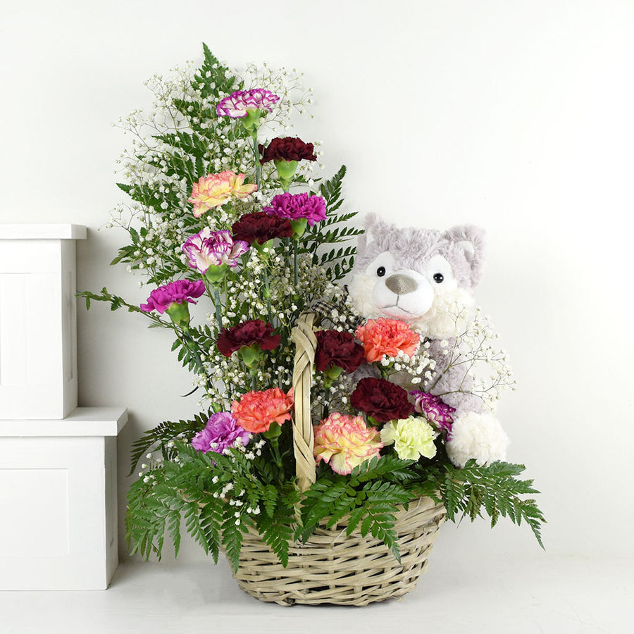 Mixed Wildflower & Plush Gift Set
