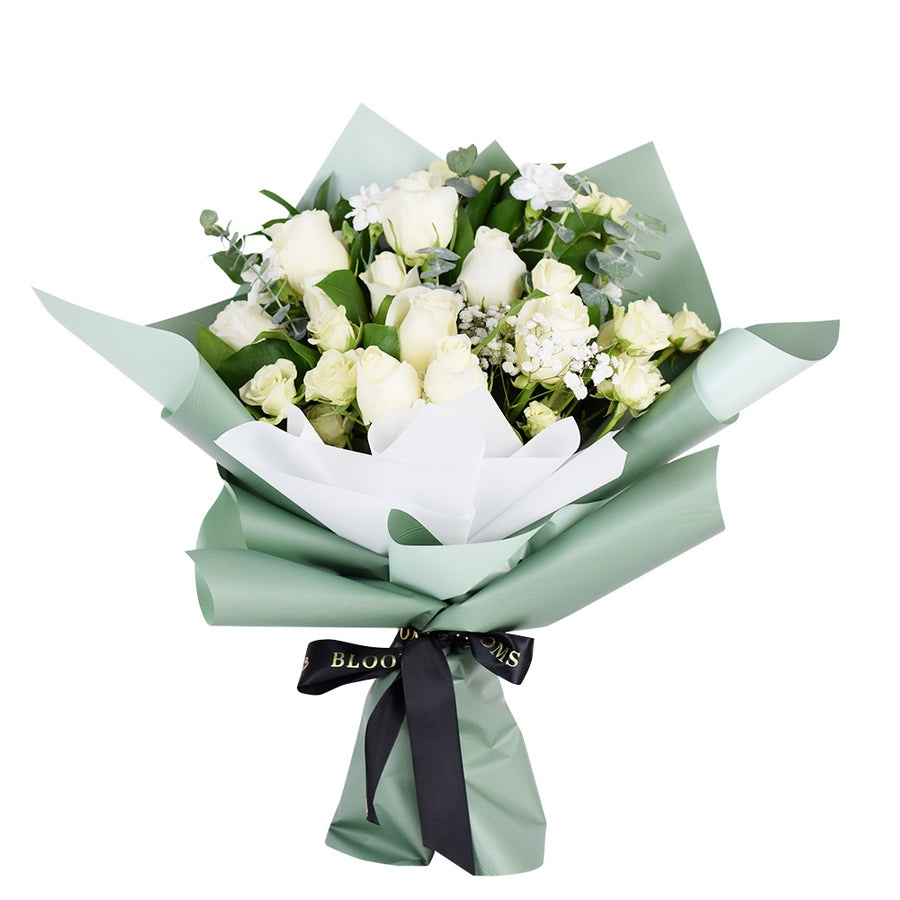Parisian Whisper Tea Rose Bouquet - Toronto Rose Bouquet - Same Day Toronto Delivery