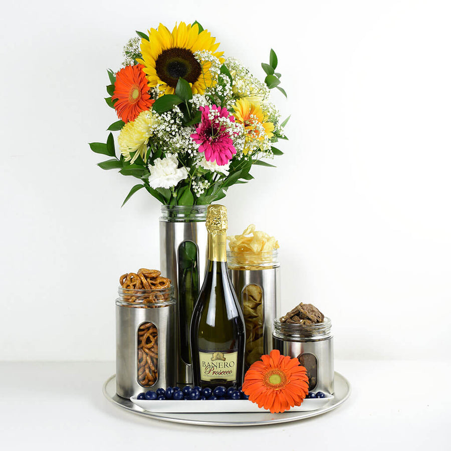 Delightfully Unique Flowers & Champagne Gift