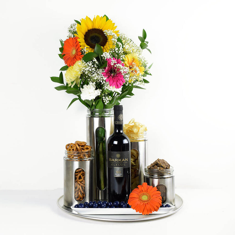 Delightfully Unique Flowers & Wine Gift