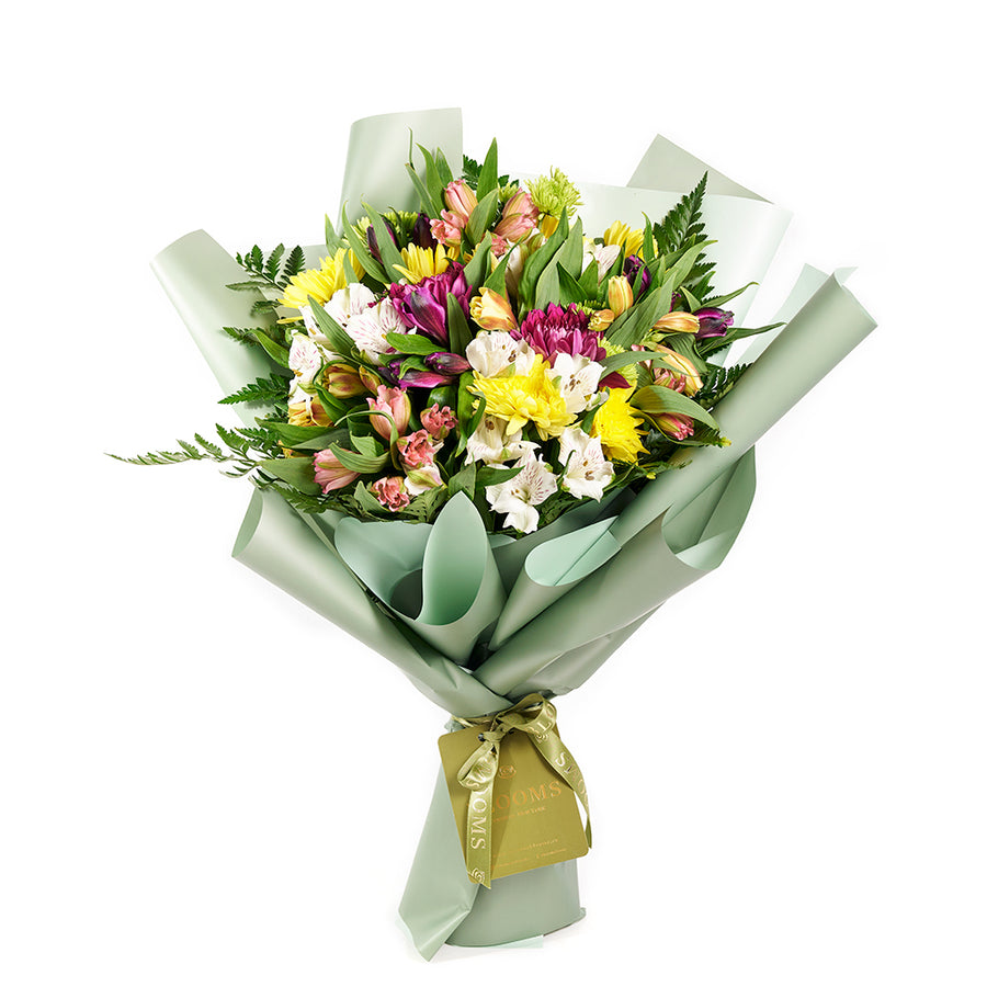 Eternal Sunshine Mixed Peruvian Lily Bouquet - Mixed Floral Bouquet Gift - Same Day Toronto Delivery
