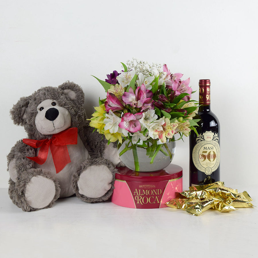 Eternal Love Flowers & Wine Gift