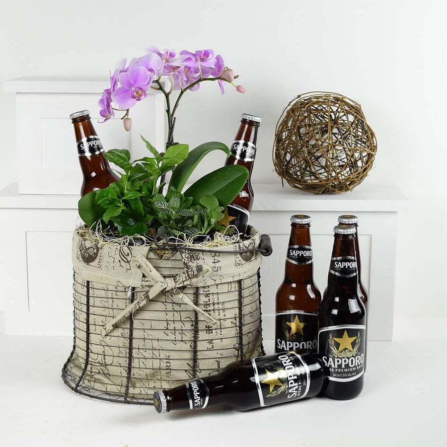 Good Times & Smiles Flowers & Beer Gift