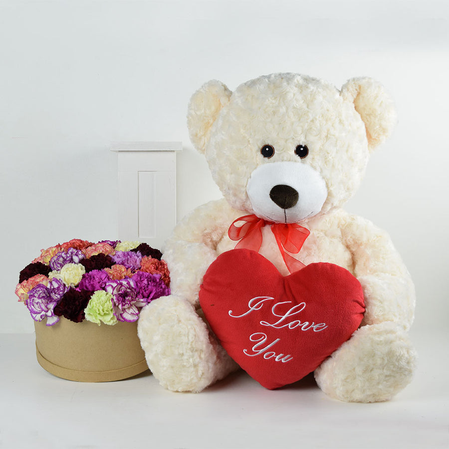 """I Love You"" Flower & Plush Gift"