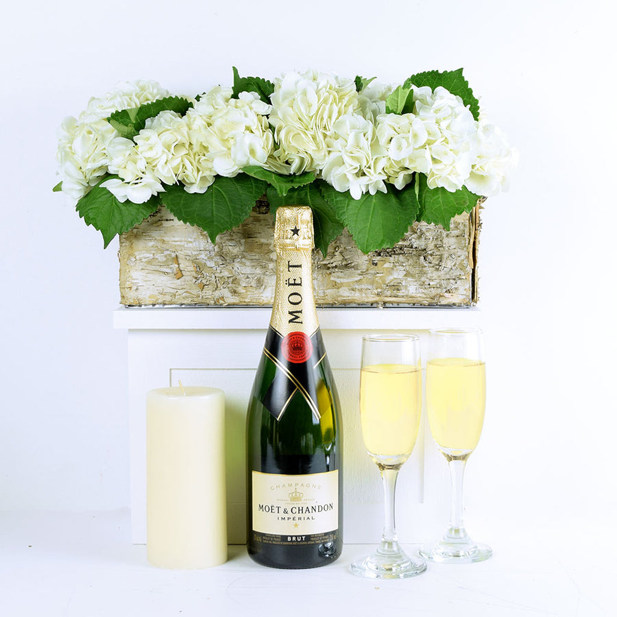 """It's Time to Celebrate"" Flowers & Champagne Gift"