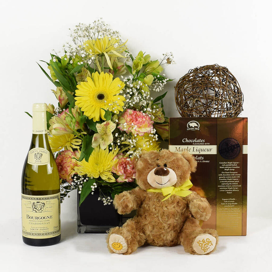 Joyful Renditions Arrangement & Wine Gift