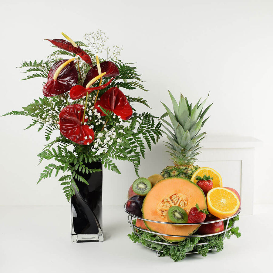 Keep It Fresh Flower & Fruit Basket