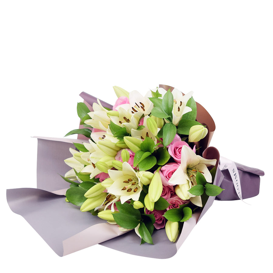 Kiss of Pink Rose & Lilies Bouquet