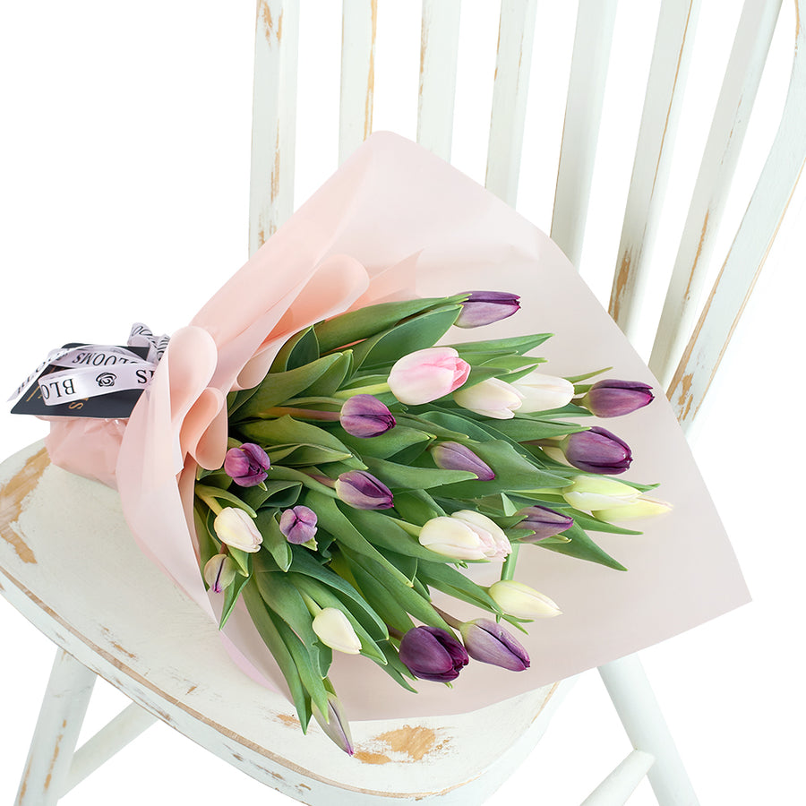 Toronto Same Day Flower Delivery - Toronto Flower Gifts - Lilac Tulip Bouquet